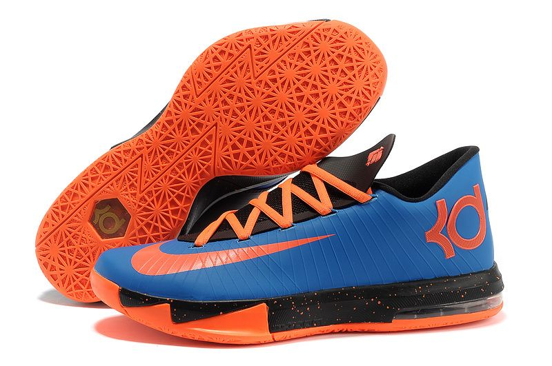 nike kd vi black orange blue