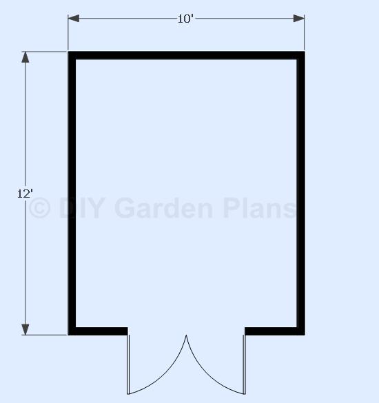 10x12 Gambrel Shed Floor  View