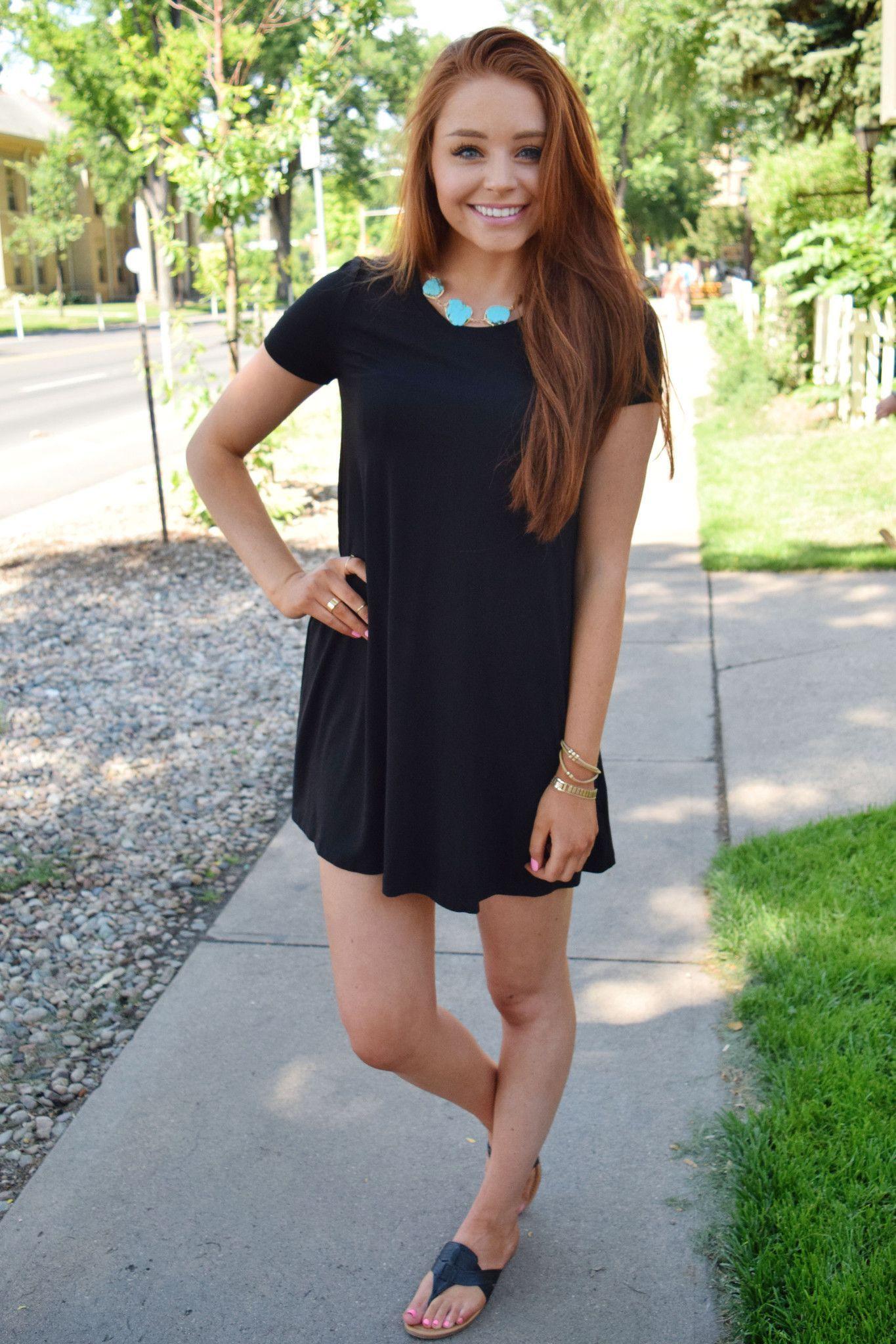 Day Dreamer Tee Shirt Dress Black