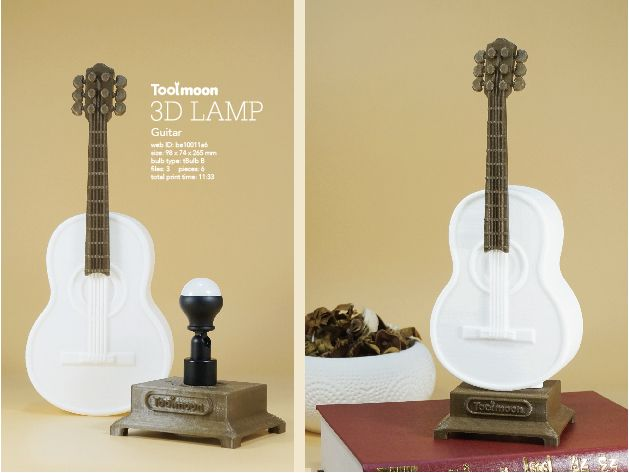 Guitar Lamp By Toolmoon Guitar Lamp Guitar 3d Lamp