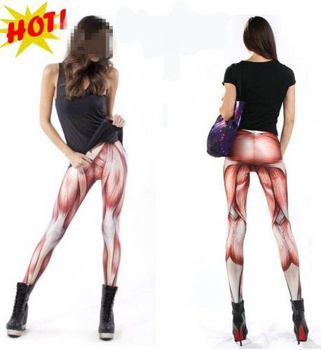 Women Lady Brand NEW Galaxy Leggings Elasticity Tights Cross Pants Muscle Style | eBay