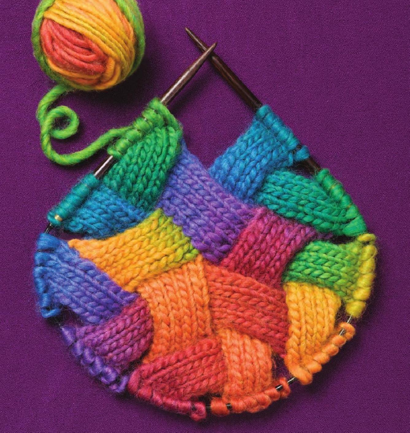 Entrelac 2 | Knit crochet, Knit hats and Crochet