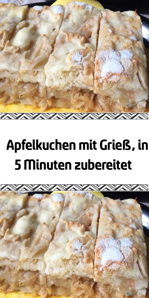 Apfelkuchen mit Grieß in 5 Minuten zubereitet #appetizersforparty