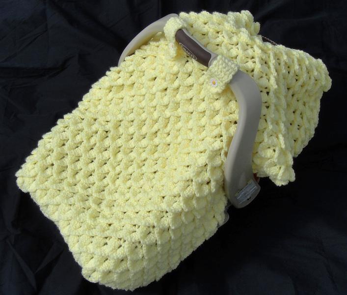 Crochet Pattern - Crocodile Stitch Car Seat Baby Blanket | PROJECTS ...