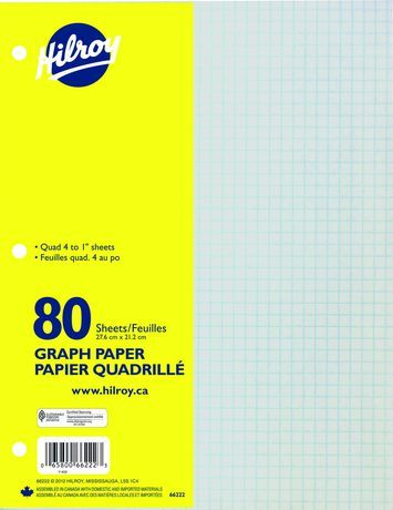 Hilroy Refill Paper Graph 80 Sheets Paper Graph Notebook How