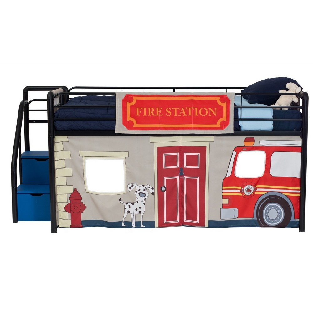 Loft bedroom curtains  Dorel Home Products Twin Fire Department Bunk Bed Curtain Set  Products