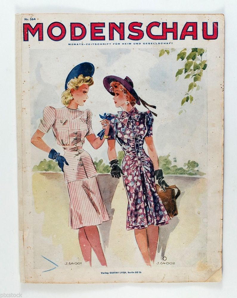 1940s germany fashion magazine modenschau women wear german 364 pattern stuff fashion. Black Bedroom Furniture Sets. Home Design Ideas
