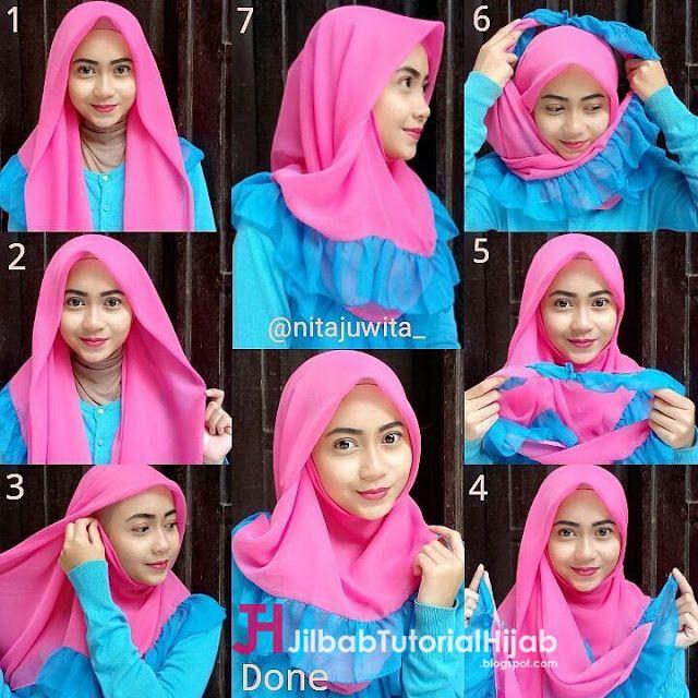 Pin Di Hijab Tutorial Tutorial Hijab Modern