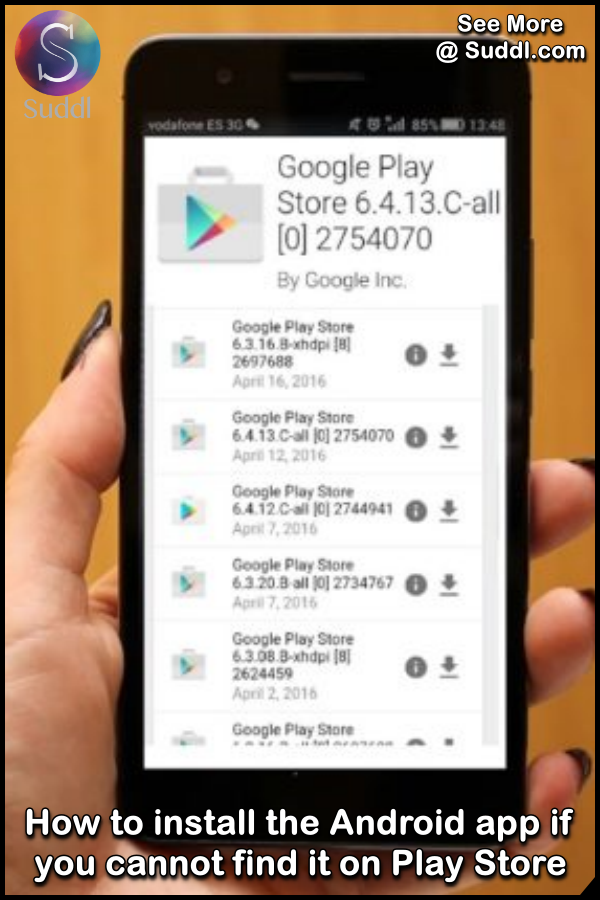 How to install the Android app if you cannot find it on Play