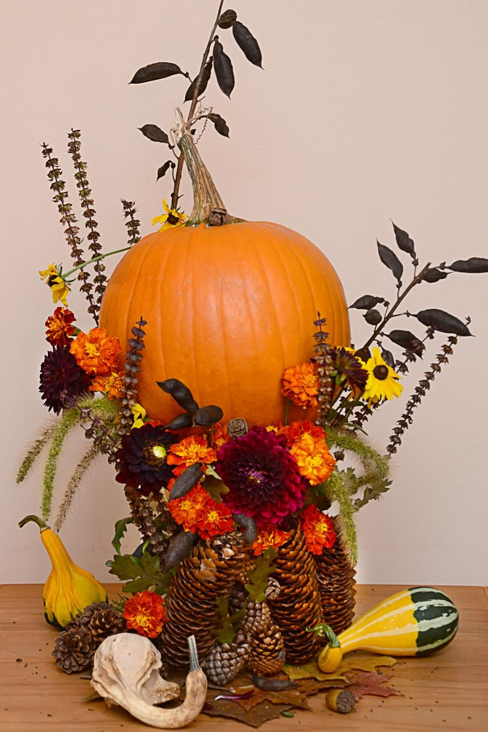 You  ll find everything from steampunk to cinderella magic elves gold monograms in this inspiring hgtv gallery of pumpkin decorating ideas that can also quick and easy decorated pumpkins school projects pinterest rh