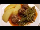 Photo of Pan-fried green beans with meatballs hac …- Pan-fried ha …