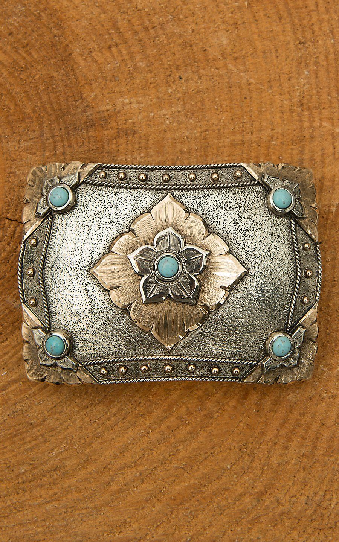 Zinc Alloy Vintage Turquoise Belt Buckle Western buckles for Ladies Women Girls