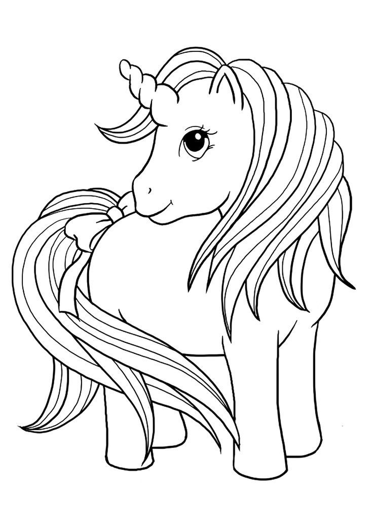 Cute My Little Unicorn Coloring Page Print Color Fun Cute Coloring Pages Unicorn Coloring Pages Emoji Coloring Pages