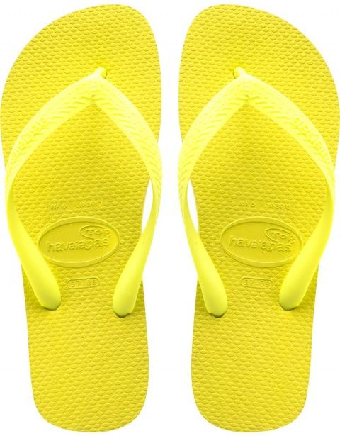 Néon Chaussures Jaunes Des Femmes De Havaianas Logo Mince J1nm60rK1