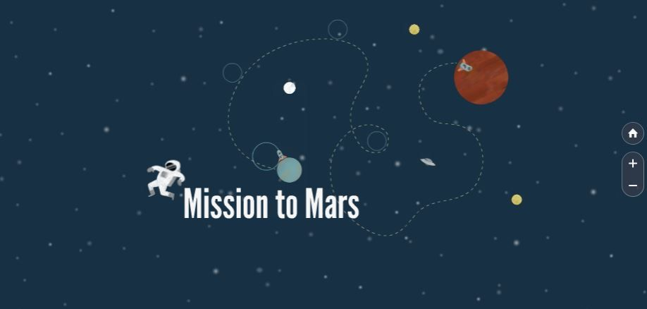 Mission To Mars Free Prezi Presentation Template