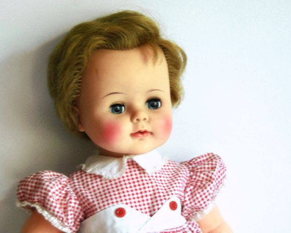 Vintage Kissy Doll 1960s Ideal 22 Inch Toddler Baby Doll