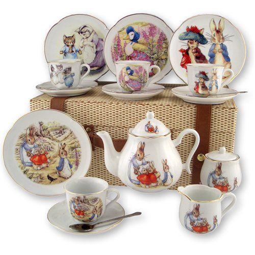 Beatrix Potter 15 Pc Large Tea Set W Peter Friends By