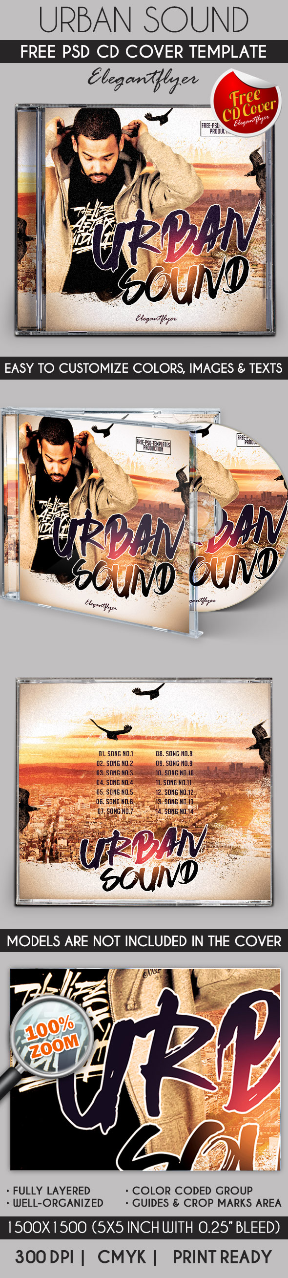 Free Template CD Cover for Urban Music | Pinterest