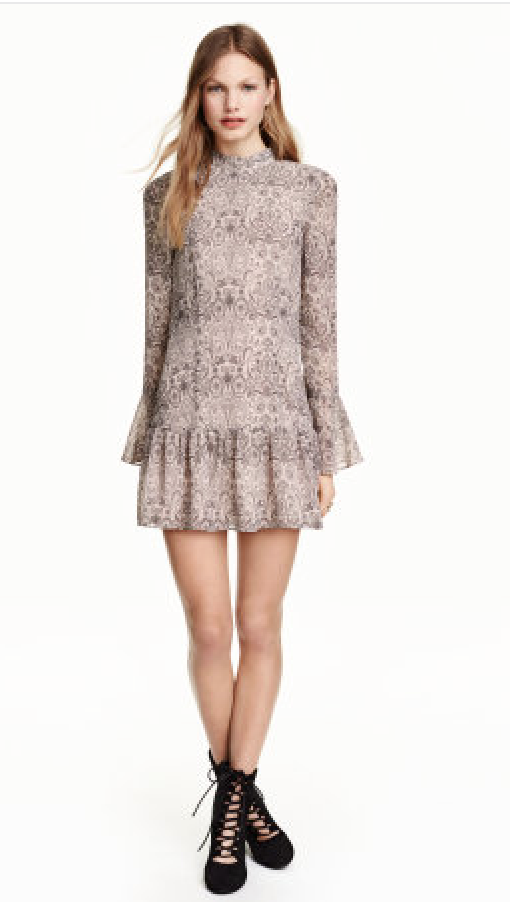 H&M Paisley Dress with Flounce