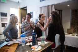 Pre-show makeup prep! #TrashionShow2013