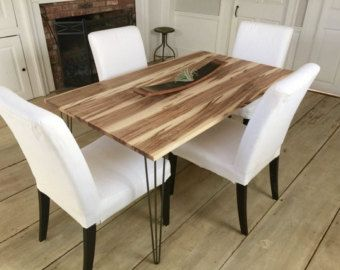 Live Edge Wormy Maple Dining Table by RusticHouseInteriors on EtsyLive Edge Wormy Maple Dining Table by RusticHouseInteriors on Etsy  . Maple Wood Dining Room Furniture. Home Design Ideas