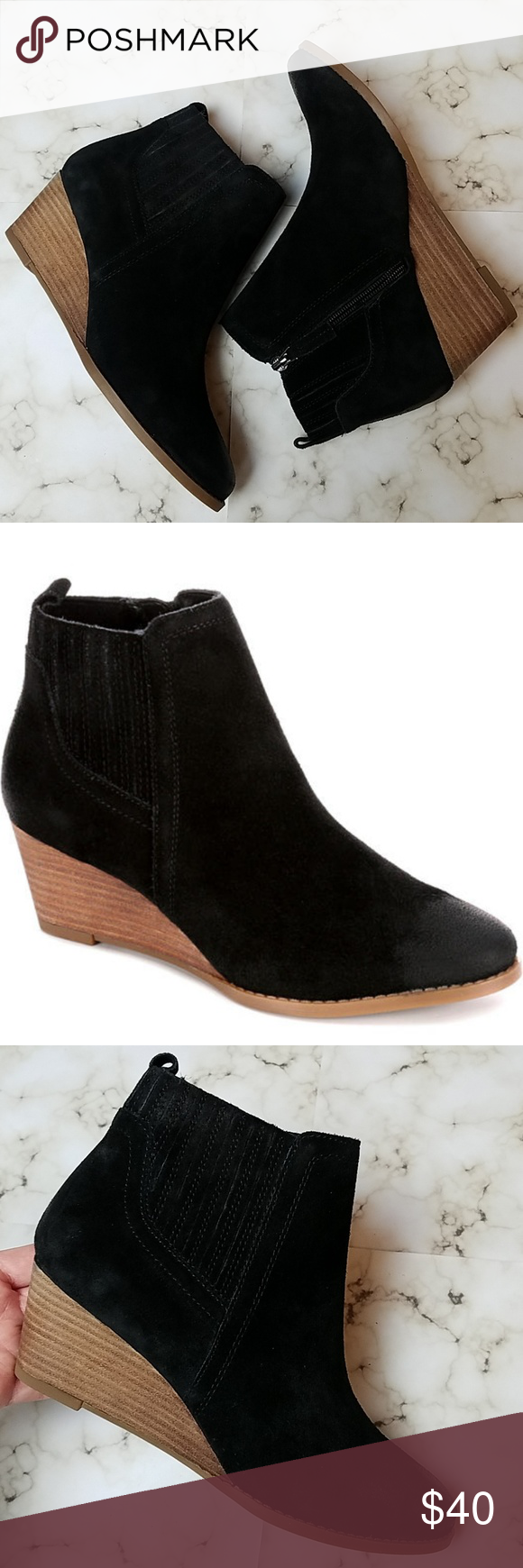 21f752c015da Franco Sarto  Wayra  Wedge Bootie -Super cute stacked wedge ankle bootie by  Franco