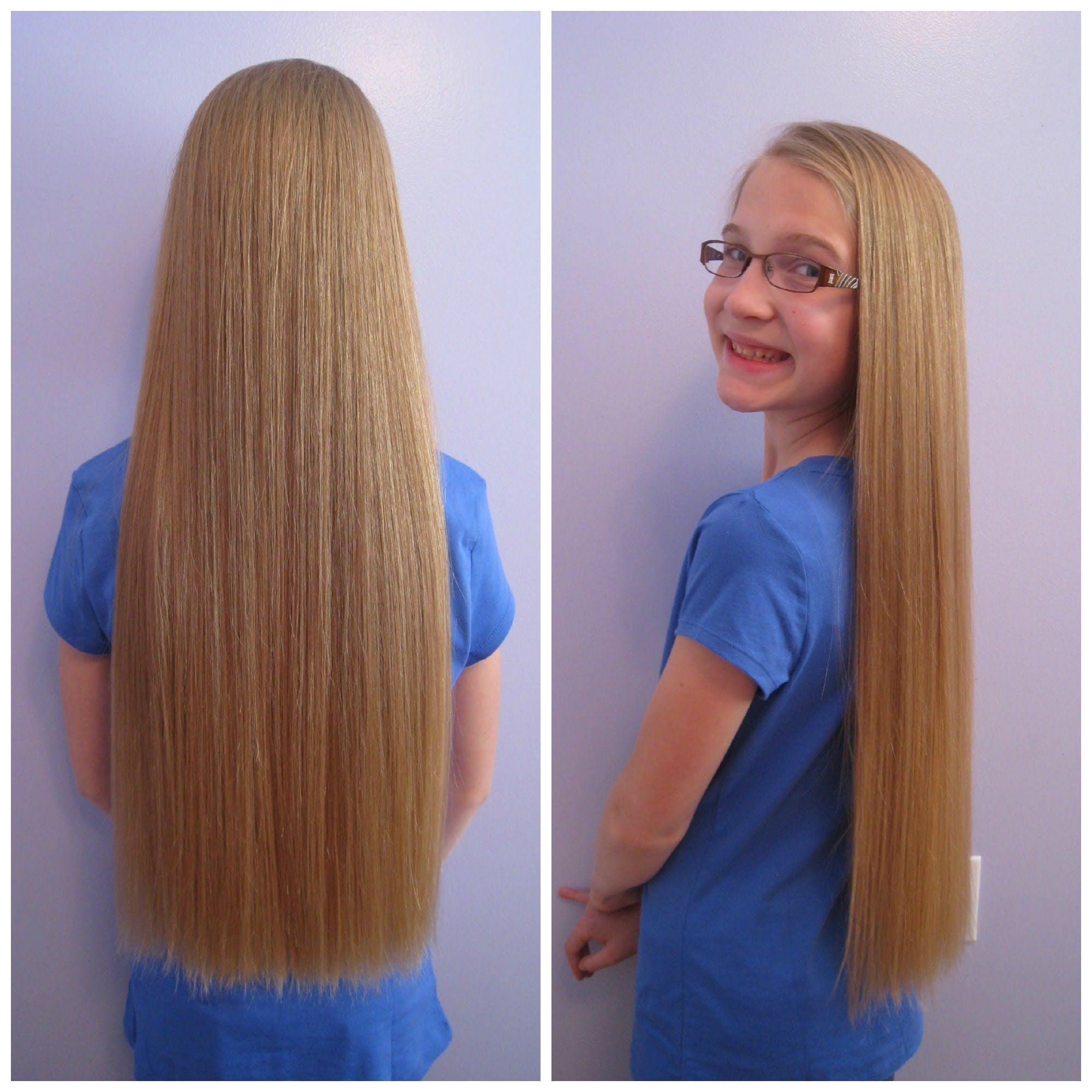 Long Hair to Shorter Hair Locks of Love Haircut