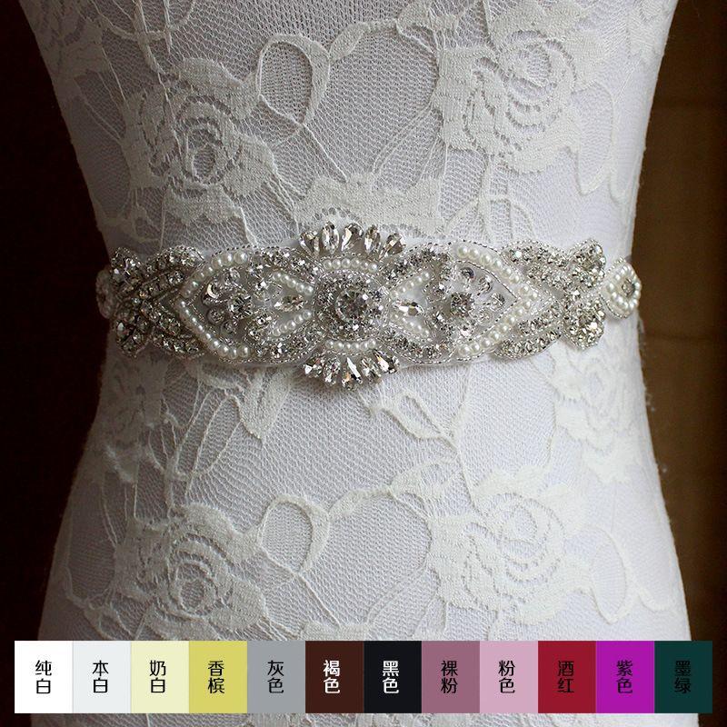 2016 XW54 Bride Belt selling the Bride Wedding dress Belt pure ...