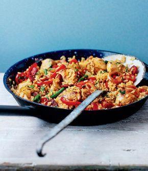Chicken and chorizo paella recipe paella dishes and food chicken and chorizo paella forumfinder Gallery