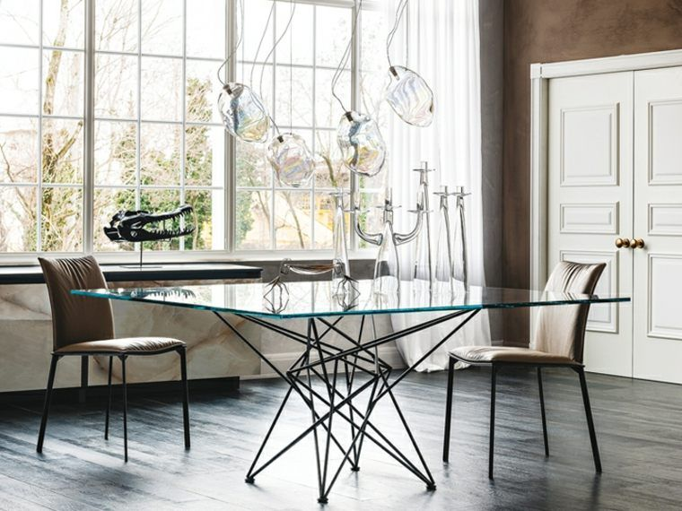 Contemporary Glass Table 24 Design Deco Ideas Contemporary Design Glass Ideas Table Diningroom In 2020 Glass Dining Table Glass Dining Room Table Simple Dining Table