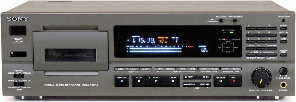 Sony Pcm 2700a Digital Audio Tape Dat Decks Hifi
