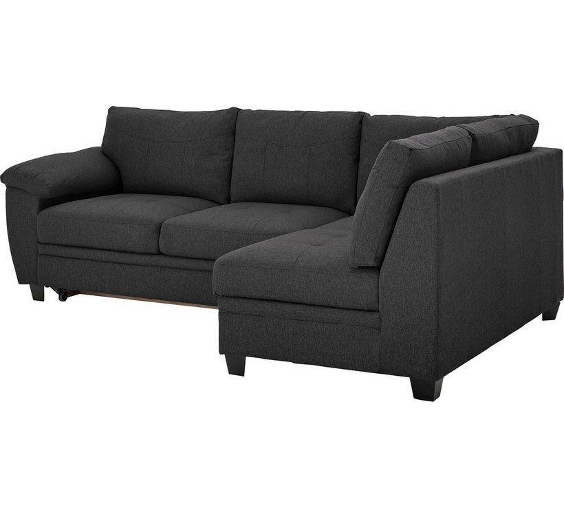 Buy Argos Home Fernando Right Corner Fabric Sofa Bed Charcoal
