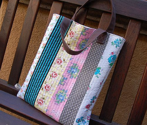 reversible quilted tote bag by ayumills, via Flickr | sewing ideas ... : how to make quilted tote bags - Adamdwight.com