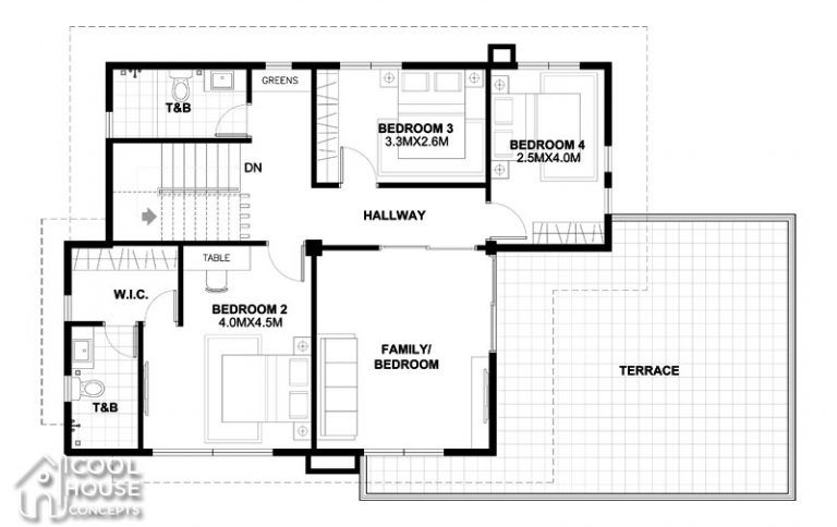 Four Bedrooms Two Storey Modern House Cool House Concepts House Plans Modern House Plans Home Design Plan