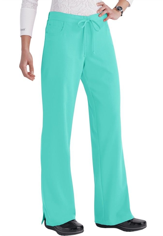 Greys Anatomy 5-pocket drawstring scrub pants in Splash | Scrubs and ...