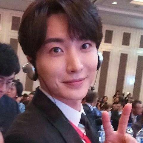Leeteuk super junior leader at Indonesian korea Business Summit ❤❤