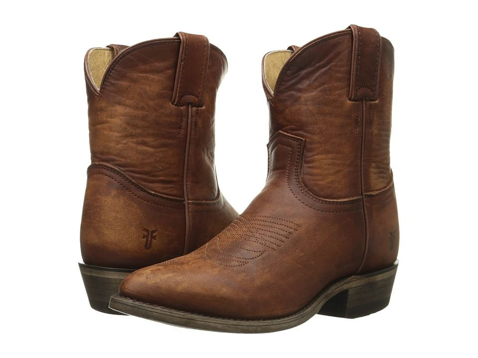FRYE FRYE - BILLY SHORT (COGNAC WASHED OILED VINTAGE) COWBOY BOOTS. #frye