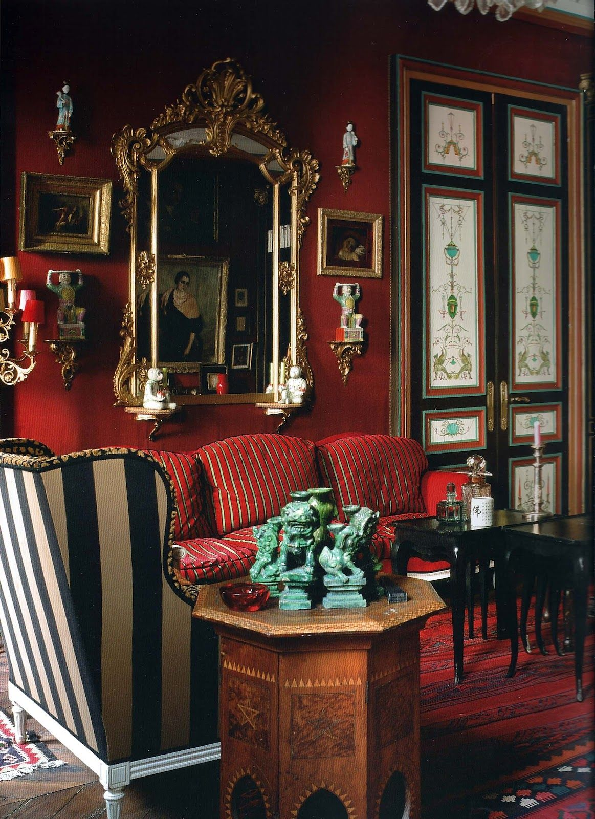 Red does it all home pinterest red rooms david hicks and