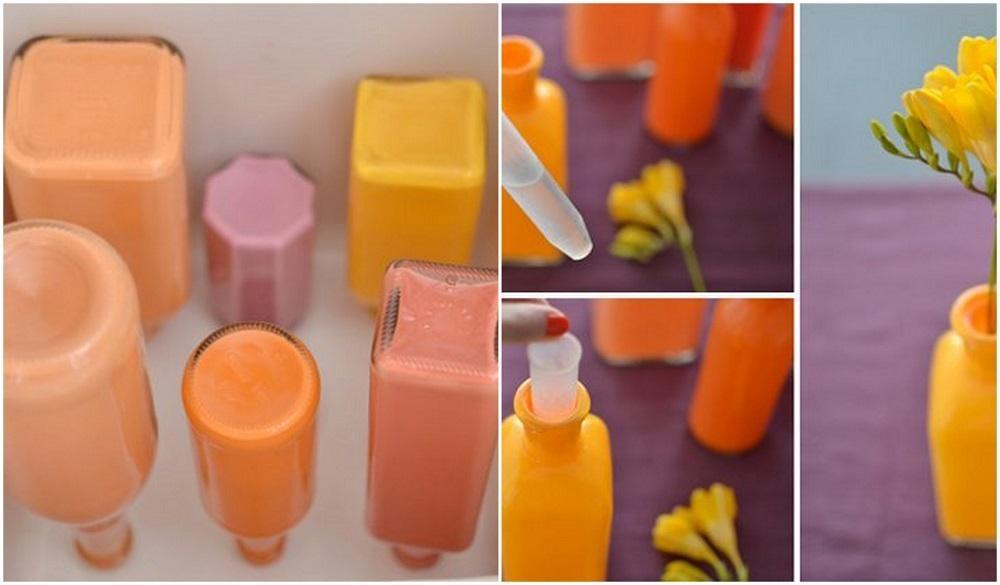 C mo pintar botellas y tarros de vidrio paso a paso diy - Como cortar botellas de vidrio ...