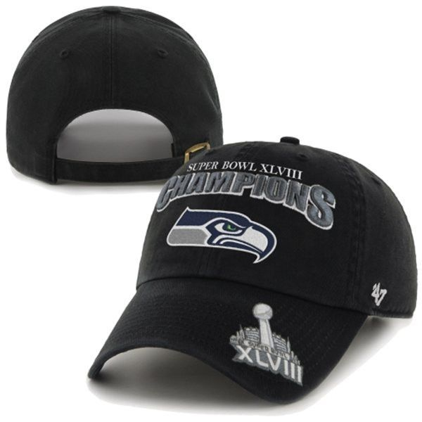 ... spain seattle seahawks 47 brand super bowl xlviii champions trophy  adjustable hat cap 5cb97 192cb cheap navy seattle seahawks nfl 2014 new ... 9bcaca58c