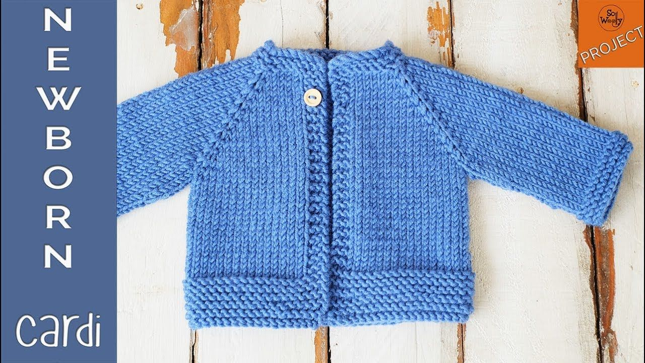 How to knit a Newborn Cardigan for beginners - Part 1 ...