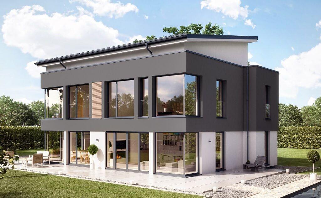 Einfamilienhaus Mit Pultdach stadtvilla mit pultdach concept m 188 wuppertal bien zenker