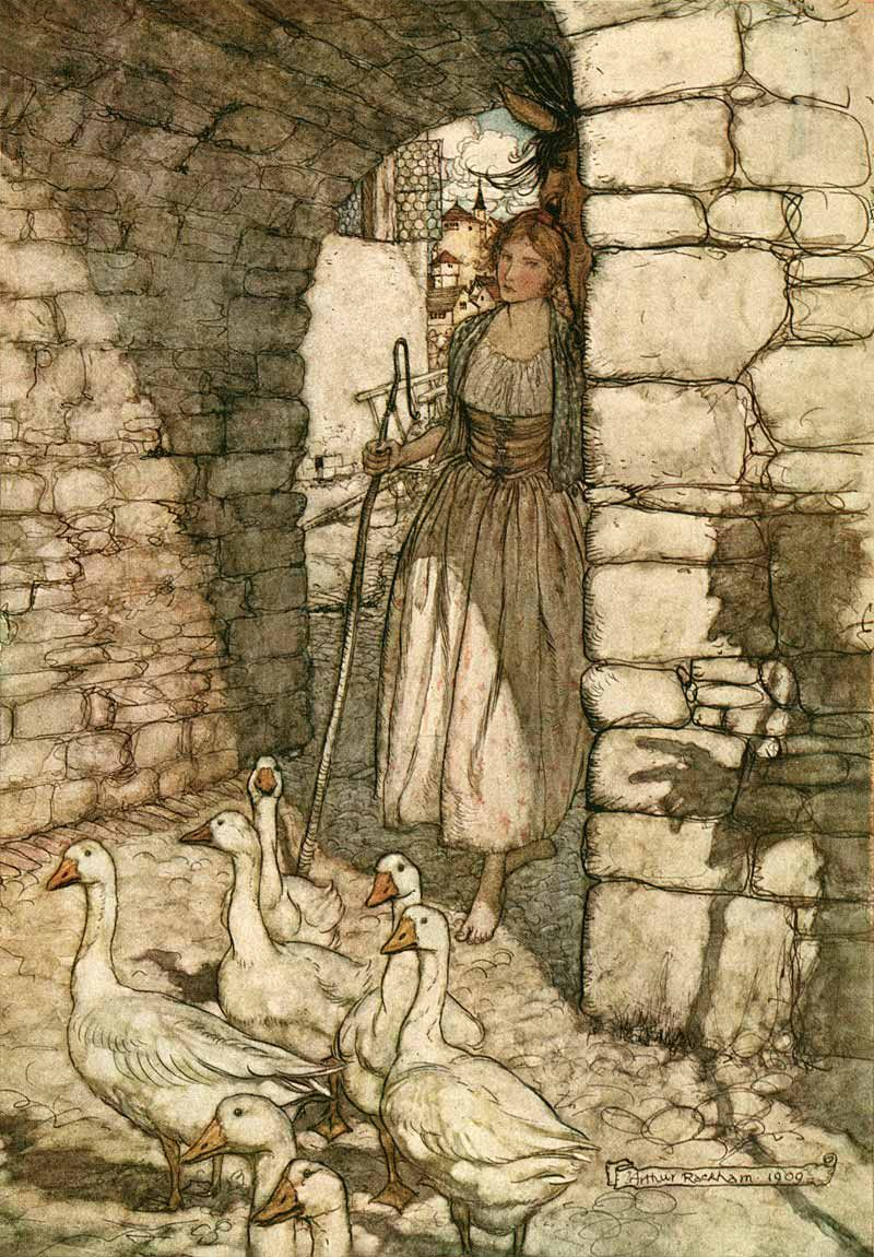 Arthur Rackham Illustrations Grimm' Fairy Tales Goose