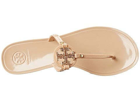 f39d8ad8d90fb Tory Burch Mini Miller Jelly Thong w  Crystals Black - Zappos Couture  125  Black and Blush