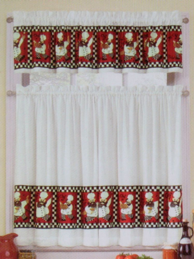 Black White And Red Kitchen Curtains