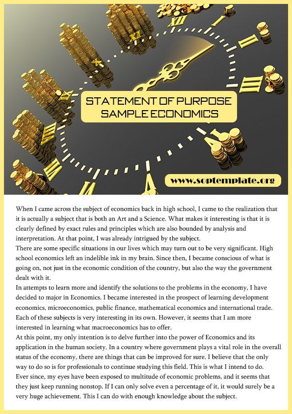 get premium statement of purpose sample economics