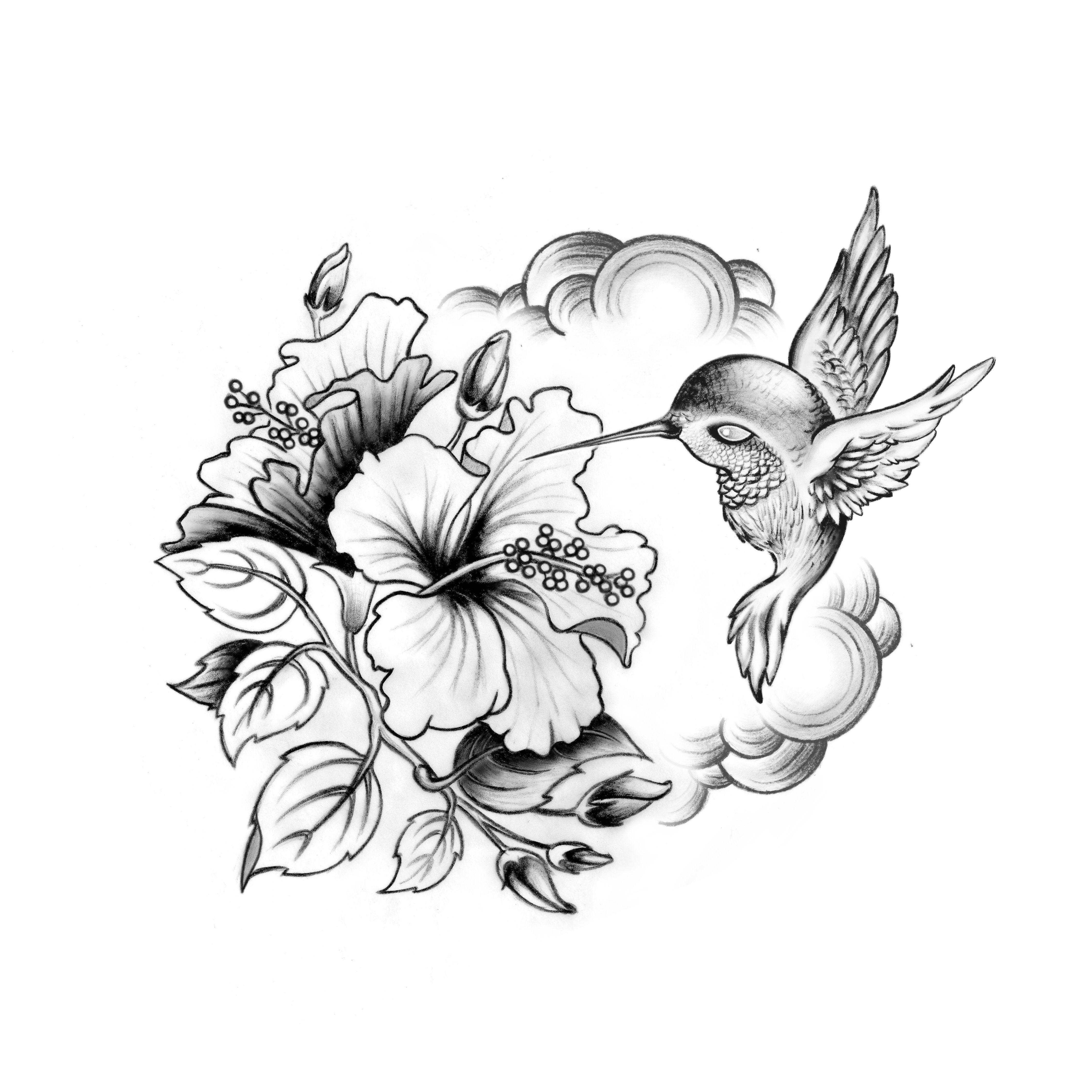 Colibrihibiscus цветята Tattoos Hibiscus Henna