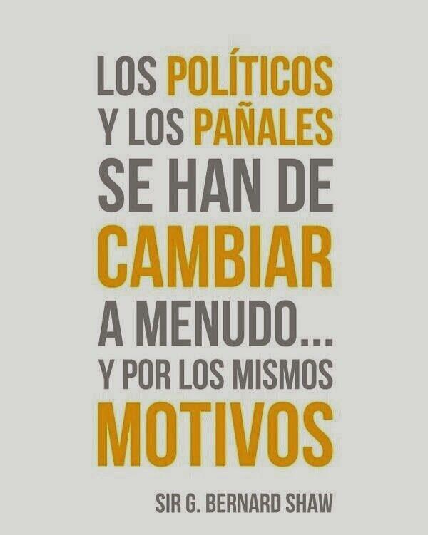 Politicos y pañales