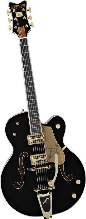 GRETSCH Guitars G6136TBK Black Falcon with Bigsby Black | Musician's Friend
