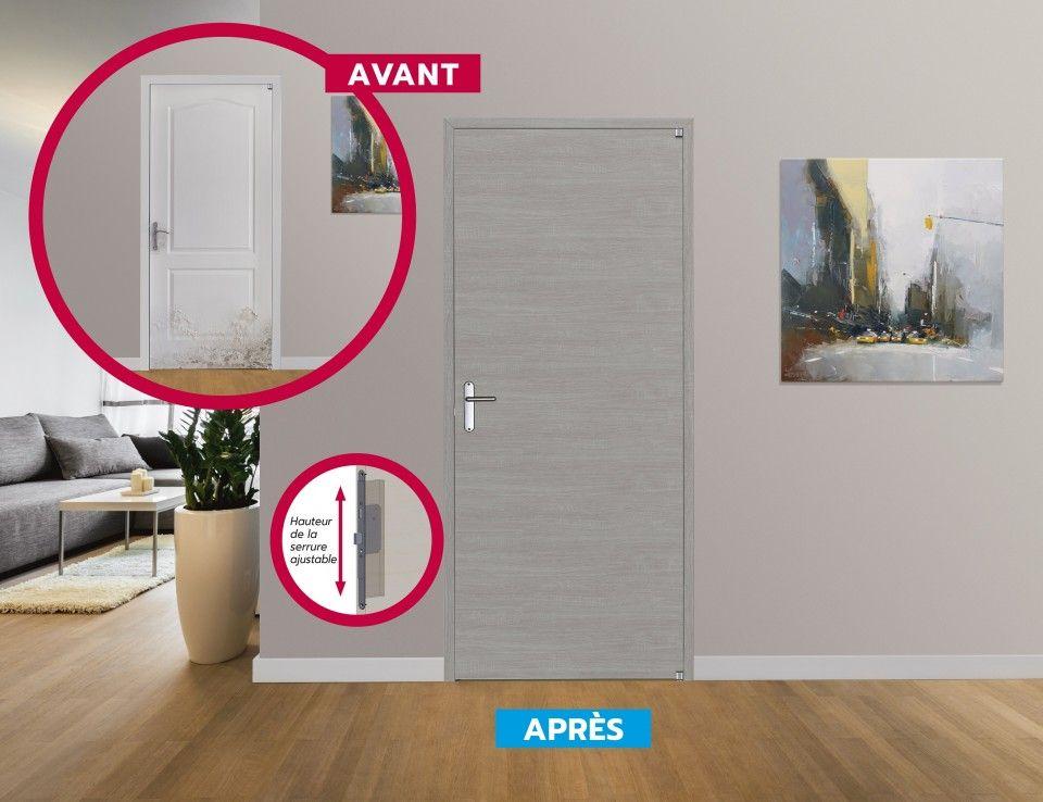 Renov Porte Optimum Changez De Porte Sans Travaux En 3 Etapes Explicatif Presente Sur Notre Site En 2020 Bloc Porte Portes Porte Placard Coulissante